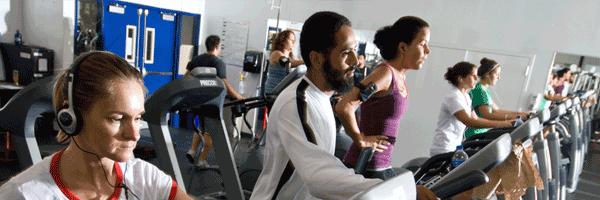 Cardio on treadmills