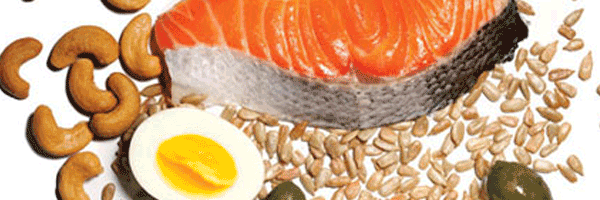 Salmon, nuts, and eggs