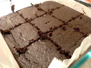 Gluten-free brownies made with quinoa