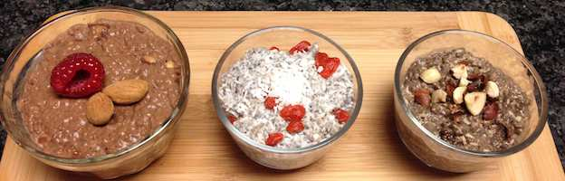 3 chia pudding flavours