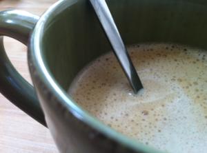 Coconut milk coffee