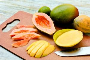 Mango and papaya
