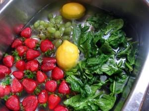 soaking vegetables