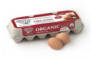 Egg carton with organic label