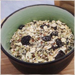 Cherry buckwheat and oat cereal