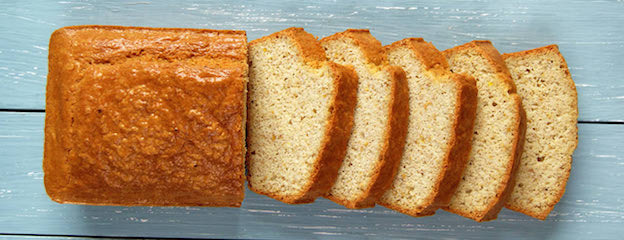 sliced loaf of almond flour bread