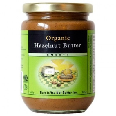 hazelnut butter in jar