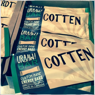 """100% Cotten"" Energy Bars (Jen Cotten )"